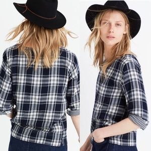 Madewell Herald Pocket Tee in Navy Curtis Plaid